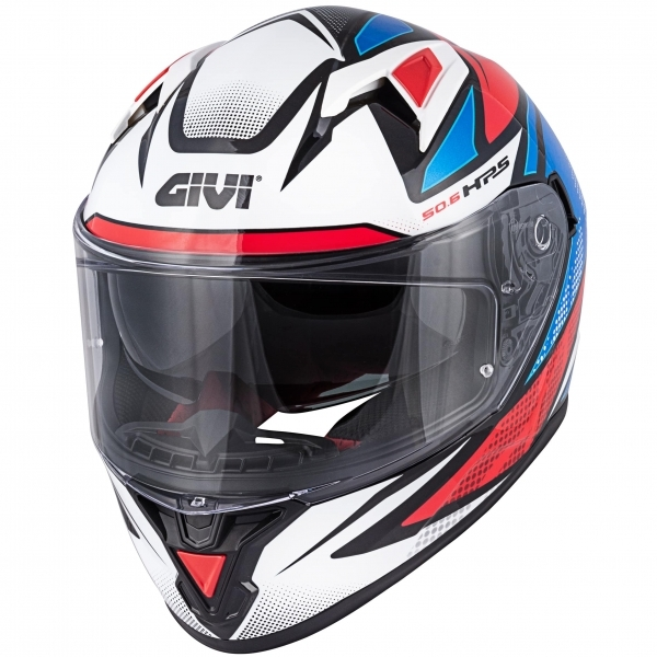 GIVI HELMA FULLFACE 50.6 STOCCARD FOLLOW GLOSSY W/BLUE/RED